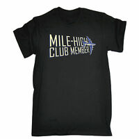 Mile High Club Member MENS T-SHIRT tee birthday airplane aeroplane funny gift