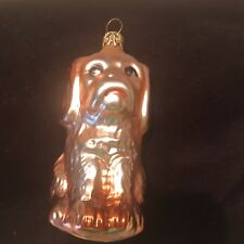 Vintage Dog Glass Christmas Ornament Hand Painted West Germany