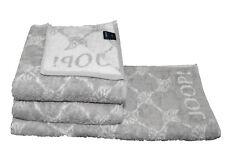 Joop Saunatuch Black & White Cornflower 1611 Silber 80 X 200 Cm