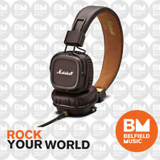Marshall Major MK-II Brown Monitoring DJ Headphones Earphones w/ Mic Microphone