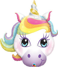 "Magical Unicorn Head 38"" SuperShape Foil Balloon Girls Birthday Party Decoration"