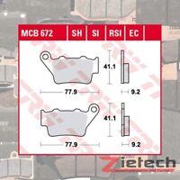 TRW Bremsklotz Bremsbelag Sinter SI MCB672SI Motorrad Bremsbeläge