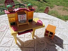 Fisher Price Loving Family Dollhouse Mansion Computer Desk Printer In Cart