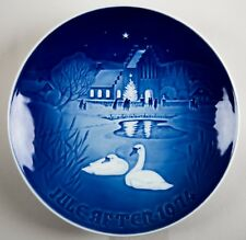 Bing & Grondahl B&G Denmark Christmas in the Village Plate 1974
