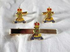 ROYAL PIONEER CORPS ( RPC ) CUFF LINK AND TIE GRIP / CLIP GIFT SET