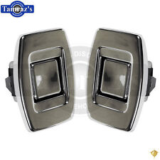 69-72 for GM A Body Front Bucket Upper Seat Back Chrome RELEASE Push Button PAIR