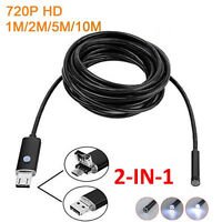 6LED 720P Endoscope Borescope Snake Inspection Camera Scope for Android /PC |