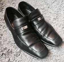 10e3abca364 Mens GUCCI Black Leather Driver Slip On Loafers Sz 8 EU 41