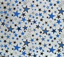 2 Sheets Gift Wrapping Paper BIRTHDAY STARS Blue Male Mens Dad Husband Brother