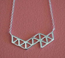 925 Sterling Silver Triangle Geometric Necklace - Geometric Necklace Jewelry