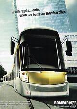 Publicité advertising 2007 Tramway les Trams Bombardier