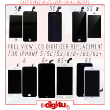 TM OEM Full View LCD Digitizer Replacement for Apple iPhone 5 5C 5S 6 6+ 6S 6S+