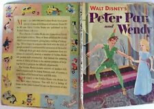 Walt Disney's Peter Pan and Wendy 1952 Little Golden Book Letter B edition