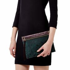 Kurt Geiger London LUREX SNAKE GEMINI POUCH CLUTCH BAG RRP £85