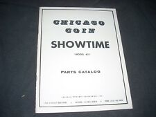 Chicago Coin Showtime Pinball Parts Manual Original Complete 1974 32 pgs