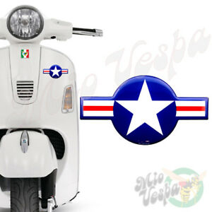 120mm USAF United States Air Force roundel 3D Decal domed sticker for Vespa jeep