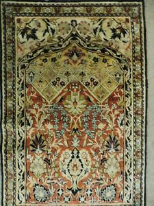 Classy, Fine Oriental Carpet, Silk Carpet,Silk on Silk, Top