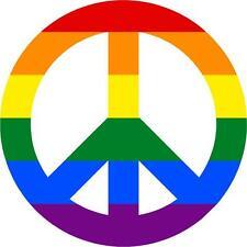Adesivi adesivo sticker tunning auto moto pace peace love coexist arcobaleno
