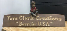 """Tom Clark Creations """"Born in Usa"""" Sign #945 Mold 27 Year 1986 Desk Nameplate"""