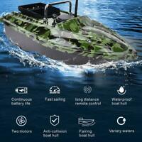 Hot RC 500m Remote Control Fishing Lure Bait Boat Wireless Fish Finder Night LED