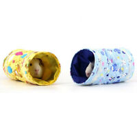 Pets Guinea Pig Hedgehog Tunnel Bed House Ferret Fleece Play Tube Toy Cave DB