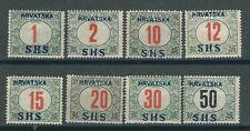 Yugoslavia Stamps 2LJ2-9 SHS Ovpts MLH F/VF 1918 SCV $271.00