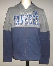 Womens NEW YORK YANKEES 5TH & OCEAN NEW ERA Zip Up Hoodie Sweatshirt Sparkly NEW