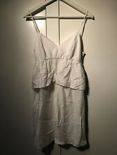 Mango White Spaghetti Strap Summer Sun Dress Size S