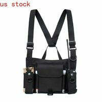 Fashion Nylon Radio Chest Rig Front Pouch Harness Hip Hop Functional Pouch