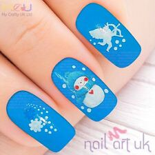 Snowman Christmas Nail Art Water Decal Stickers