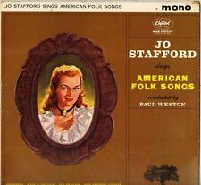 "JO STAFFORD ""SINGS AMERICAN FOLK SONGS"" POP VOCAL LP CAPITOL T 1653"