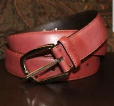 $595 NWOT BRIONI Italy Handmade Genuine Leather Belt 36/95 Smooth Brown...