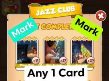 Coin master card Any 1 card from Jazz club set Total 1 card