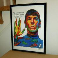 Spock Leonard Nimoy Star Trek The Next Generation Poster Print Wall Art 18x24