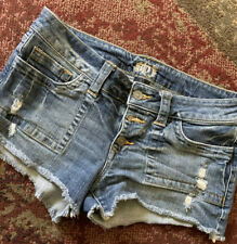 Women's Distressed Jean Shorts Size L