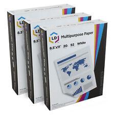 LD Multipurpose Printer Paper 92 Brightness 20lb 8-1/2 x 11 White 1500 Sheets