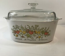 Rare Vintage Corning Ware -Spice of Life  A-5-B Casserole Dish with Lid 5 Quart