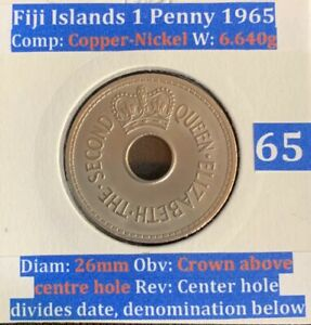 Fiji 1Penny 1965 (VF condition)