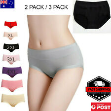 LADIES 2 PACK, 3 PACK  BAMBOO UNDERWEAR MID BRIEF PANTIES FROM SIZE 8 TO 24