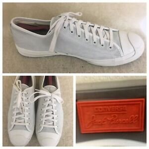 Converse Jack Purcell Mens Size 13 US Jack Ox Suede Egret/Natural 157791C