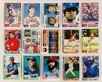 (15) 1982 Topps Baseball Card Lot Nolan Ryan Jim Palmer Phil Niekro Tom Seaver