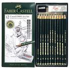 FABER CASTELL 9000 Art Set 12x Graphite Sketch Pencils with  Eraser & Sharpener