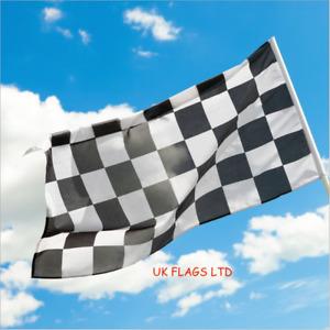 Giant Black & White Check Chequered Ska F1 Nascar Car Racing Flag Lewis Hamilton