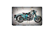 Royal Enfield Electra Bike Motorcycle A4 Retro Metal Sign Aluminium