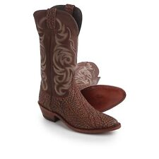 """Justin Boots Indian Chief Badland Brown Cowboy Boots 13"""" J-Toe Mens Size 10.5"""