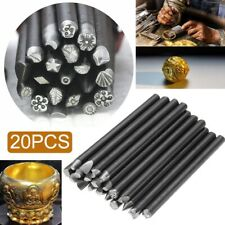 20pc Metal Stamp Punch Work DIY Tool Assorted Punches For Jewelry Flower Steel