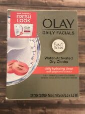 Olay Daily Facials Daily Hydrating Clean Dry Cloths 33 Count Pack, NWT