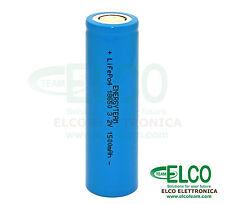 Batteria Ricaricabile Cella LiFePO4 18650 3,2V 1500mAh