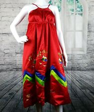 Women Hanbok Red Dress Custom Hand Made Traditional Hanbok adult costume. Party
