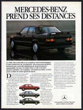 1986 MERCEDES 190E Vintage Original Print AD Black sedan car photo French Canada